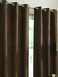 Rod Pocket Grommet Top Tab Top Double Pleated Two Panels Curtain Modern Living Room Polyester Material Blackout Curtains Drapes Home