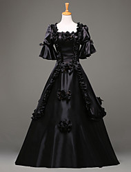 cheap -Gothic Lolita Dress Steampunk® Victorian Lace Satin Women's Dress Cosplay Long Sleeve Long Length Halloween Costumes