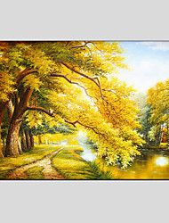 cheap -Oil Painting Modern Landscape , Canvas Material with Stretched Frame Ready To Hang SIZE:60*90CM.