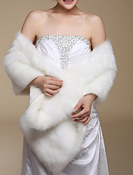 Fur Wraps / Wedding  Wraps Shawls Sleeveless Faux Fur Ivory Wedding / Party/Evening / Office & Career / Casual Open Front