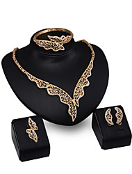 cheap -New Products 18k Gold  Jewelry Romantic  Necklace Jewelry Sets For Bridal Bijoux