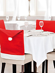 cheap -6 Pcs/Lot Santa Claus Hat Chair Covers Christmas Decoration Kitchen Dining Table Decor Home Party