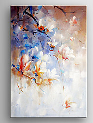 Oil Painting White Impression Flower Hand Painted Canvas with Stretched Framed Ready to Hang