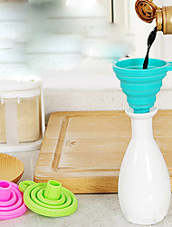 1Pc Portable Silicone Food Soft Funnel Random Color Kitchen  Supplies