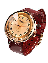 cheap -Watch Women Genuine Leather Band Rhinestone Quartz Analog Wrist Watch Gift Idea (Assorted Colors) Unique Watches Fashion Watch Strap Watch