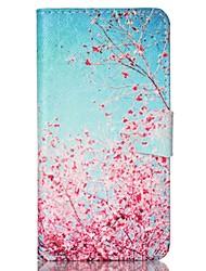 رخيصةأون -غطاء من أجل Samsung Galaxy حالة سامسونج غالاكسي محفظة / حامل البطاقات / مع حامل غطاء كامل للجسم شجرة جلد PU إلى S6 / S5 Mini / S5