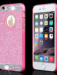 cheap -Top Fashion Glitter Powder Rhinestone Bling with Hole Hard Back Case for iPhone 4/4S(Assored Colors)