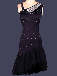cheap -Shall We Latin Dance Dresses Women Training Spandex 1 Piece Dress
