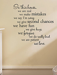 cheap -Words & Quotes Wall Stickers Plane Wall Stickers Decorative Wall Stickers,Vinyl Material Removable Home Decoration Wall Decal