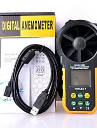 HYELEC MS6252B digital anemometer Professional air speed velocity air flow meter with air temperature air humidity RH USB port