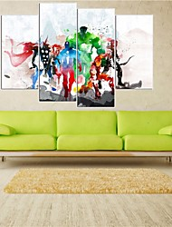 cheap -4 Panels The Avengers Modern Art Canvas Wall Paintings Cuadros Decorativos Canvas Prints Paintings For Living Room Wall