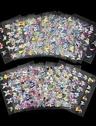 economico -Adesivi 3D unghie / Gioielli per unghie - Adorabile - per Dito - di PVC - 4pcs - 8*6*1