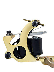 preiswerte -Tätowiermaschine Beginner Set - 1 pcs Tattoo-Maschinen mit 7 x 5 ml Tätowierfarben LED-Stromversorgung Case Not Included 1 x-Legierung Tattoo Maschine für Futter und Schattierung