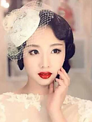 cheap -Elegant Lace Hat Fascinators for Party