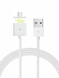 cheap -Micro USB 2.0 USB 2.0 USB Cable Adapter Magnetic Cable For Samsung Huawei LG Nokia Lenovo Xiaomi Motorola HTC Sony 100 cm PVC Metal
