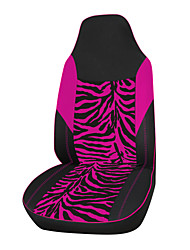 AUTOYOUTH Velour Fabric Pink Zebra Car Seat Cover Fit Most Vehicles Seat Covers Accessories Car Seat Covers 1PCS