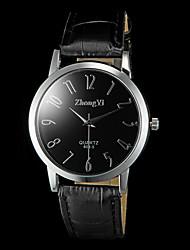 abordables -Hombre Reloj de Pulsera Cuarzo PU Banda Negro Marrón Blanco Negro Marrón