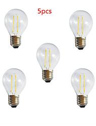 abordables -HRY 5pcs 3000/6500 lm E26/E27 Bombillas LED de Globo A60(A19) 2 leds LED de Alta Potencia Decorativa Blanco Cálido Blanco Fresco AC