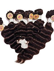 Недорогие -Бразильские волосы Крупные кудри 8A Человека ткет Волосы Ткет человеческих волос Расширения человеческих волос