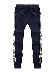 cheap -Men's Mid Rise Micro-elastic Harem Slim Chinos Sweatpants Pants,Casual Traditional Casual/Sporty Striped Spring Summer
