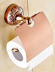 Toilet Paper Holder Bathroom Gadget / Gold Brass Zinc Alloy /Neoclassical