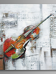 abordables -peinture à l'huile de violon peinte à la main sur art mural de toile avec cadre tendu prêt à accrocher