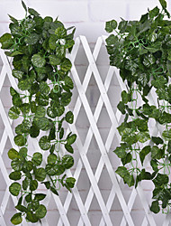 2pcs 1 ramo di seta piante parete del fiore fiori artificiali 240 centimetri * 9cm * 9cm (colore casuale)