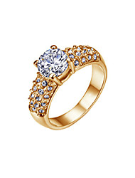 cheap -Ring Women's Cubic Zirconia Alloy Alloy 6 / 7 / 8 / 9 Gold Elegant Style