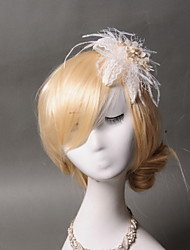 cheap -Lace Feather Hair Clip 1 Wedding Special Occasion Casual Headpiece