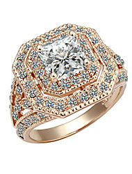 cheap -Ring Women's Cubic Zirconia Alloy Alloy 7 / 8 / 9 Gold Elegant Style