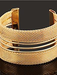 Недорогие -Жен. Широкий браслет с прорезями Браслет разомкнутое кольцо - Золотой