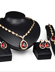 cheap -Women's Cubic Zirconia / Rhinestone Jewelry Set - Others Red, Royal Blue