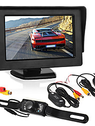 Недорогие -Автомобильный реверсивный мониторинг4,3-дюймовый дисплей / светодиодная видеокамера / беспроводной передатчик и приемник