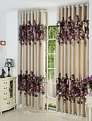 Rod Pocket Grommet Top Tab Top Double Pleated Pencil Pleated Two Panels Curtain European Polyester Material Curtains Drapes Home
