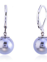 cheap -Drop Earrings Pearl Silver Plated Shell Fashion Gray Jewelry Party Daily Casual 2pcs
