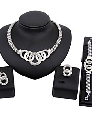 cheap -Vintage Cute Party Casual Link/Chain Alloy Bracelet Necklace Earrings Ring