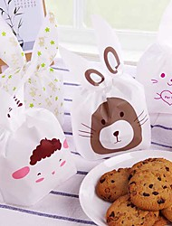 20 Pcs Rabbit Christmas Party Suppliers Treat Gift Wrap Candy  Biscuit Bags (Random Color)