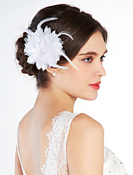 cheap -Crystal Fabric Tiaras Flowers 1 Wedding Special Occasion Party / Evening Outdoor Headpiece