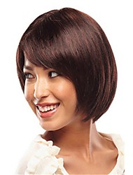 colore della miscela senza cappuccio lunghezza lunghi capelli diritti naturali parrucca sintetica di alta qualità