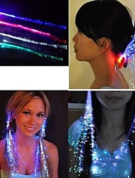 cheap -7Color Color-Changing Girl Hair Light LED Hair Accessories Fiber Optic Lights Up Hair Barrette Braid Party Decoration