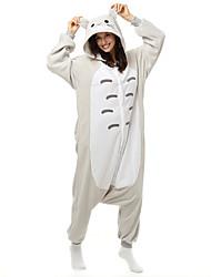 Kigurumi Pijamas Gato Totoro Ocasiões Especiais Lã Polar Fibra Sintética Kigurumi Malha Collant / Pijama Macacão Cosplay Festival /