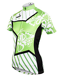 cheap -ILPALADINO Women's Short Sleeves Cycling Jersey - Green Bike Jersey, Quick Dry, Ultraviolet Resistant, Breathable