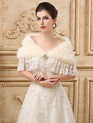 Lace Sleeveless Wedding Wraps Imitation Cashmere Capelets with Crystal
