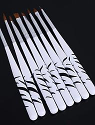1set zebra negle udskårne krystal pen nailart værktøjer (8pcs / sæt)
