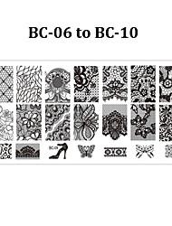 economico -5pcs nail plates - Altre decorazioni - Fiore - Dito / Dito del piede - di Metallo - 12cmX6cm each piece