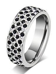 Недорогие -Классические кольца Титановая сталь Мода Серебряный Бижутерия Для вечеринок Повседневные 1шт