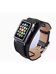 economico -Cinturino per orologio  per Apple Watch Series 3 / 2 / 1 Apple Chiusura classica Vera pelle Custodia con cinturino a strappo