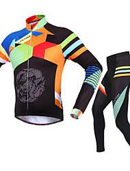 billige -BATFOX® Cykeltrøje og tights Herre Langt Ærme Cykel Åndbart / Hold Varm / Vindtæt / Ultraviolet Resistent / YKK Lynlås / Svedreducerende