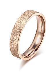 Z&X® Fashion Scrub Titanium Wedding Steel Ring Band Rings Party / Daily / Casual 1pc