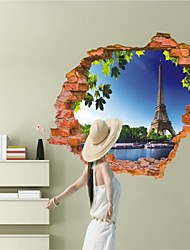 Arkitektur / Fashion / fantasi / 3D Wall Stickers 3D mur klistermærker , Vinyl stickers 87*56cm